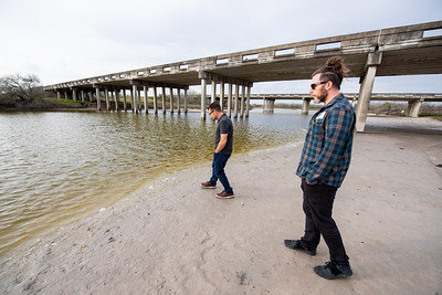 TAMU-CC Assistant Professor for Marine Biology Dr. Jeffrey Turner (left) and PhD student researcher Paxton Bachand will be bringing students from Riviera High School to collect samples and hope to inspire them to become citizen scientists.