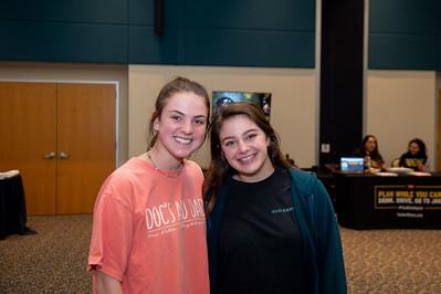Grace Rush (Freshman, ESCL), Stephanie Mcclure (CJ, Freshman)