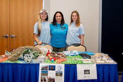 Emily Saculla (Senior, Pre-Enviromental Law), Ashley B. (Sophomore. Marine Biology), Audrey Saucedo (Senior, VP Plant Biology)