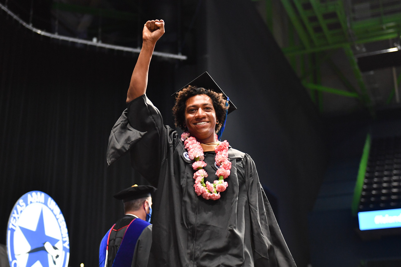 Islander graduates receive their degrees during the Texas A&M University-Corpus Christi spring 2021 commencement ceremonies.