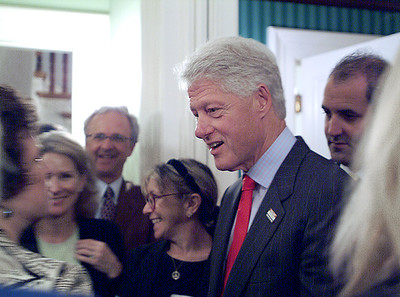 Former President Bill Clinton at a private party during Hilary's bid for the presidency.