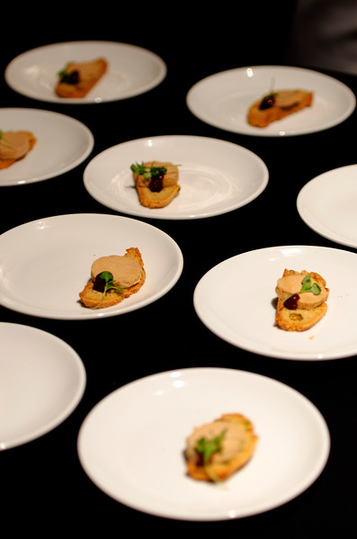Soundbites 88nine event in Milwaukee serving foie gras