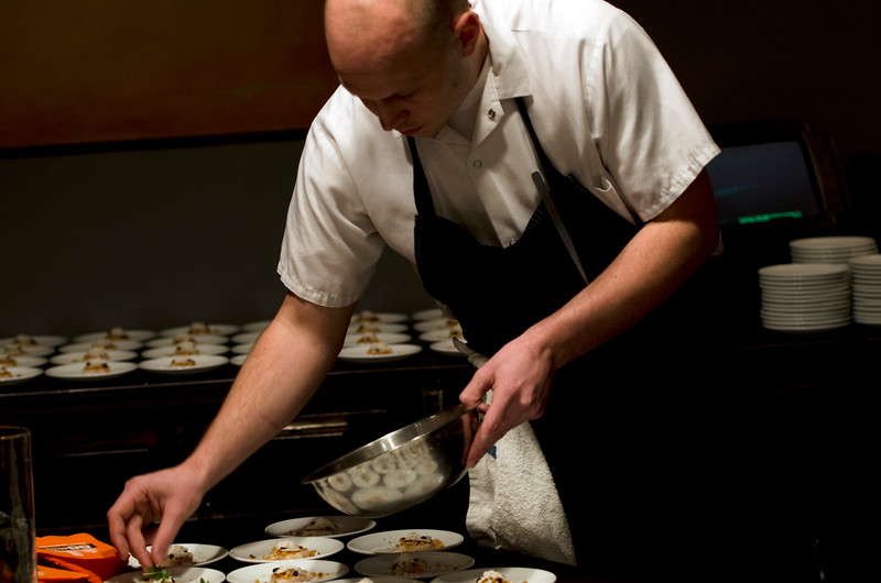 Chef preparing food at Soundbites 88nine event in Milwaukee