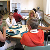 "May 29, 2009: About 30 visitors, representing nine Indiana counties, convened at the monastery today as participants in a ""Connect with Southern Indiana"" program. A University of Southern Indiana initiative, this program is funded by a grant from Lilly Endowment to boost Indiana's retention of intellectual capital. Participants create new connections with others having similar concerns and interests, identify areas for collaborative problem-solving, and meet business and civic leaders, all while developing critical thinking skills. They meet in each of the nine counties for full-day sessions over a six-month period. The monastery was selected as the site for the meeting in Dubois County."