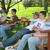 April 25, 2009: After hours of hard work in the morning, everyone enjoyed some relaxation over lunch break.