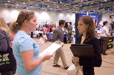 The 2007 Fall Career Opportunity Fair, scheduled for Wednesday, Sept. 12, has experienced record employer registration with about 120 organizations planning to attend! Also, we have 12 organizations who are Gold or Silver Sponsors for the fair.   We are hoping for a large student turnout for this valuable event and would like staff and faculty to encourage students to attend the fair. The time is later than in the past to help accommodate student schedules. Faculty members are also invited and encouraged to attend, as time permits, in order to interact with employers and students.   The fair will be in the North Gym at the College of Nursing, Health & Human Services on 5th street from 10 a.m. to 2 p.m. See list of attending organizations online at