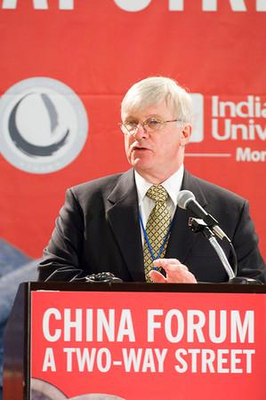 Indiana State University President Lloyd W. Benjamin III