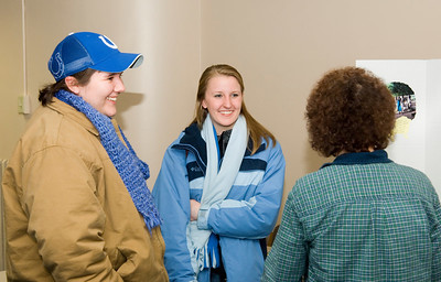 "Darcy Danner, elementary ed major Maggie Jones (hat) Karin Hutsell (Hickory Center Elementary School) - ""Kenya"""