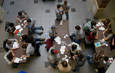 Students compete in the Rescue Mission event of Tech Trek 2007.