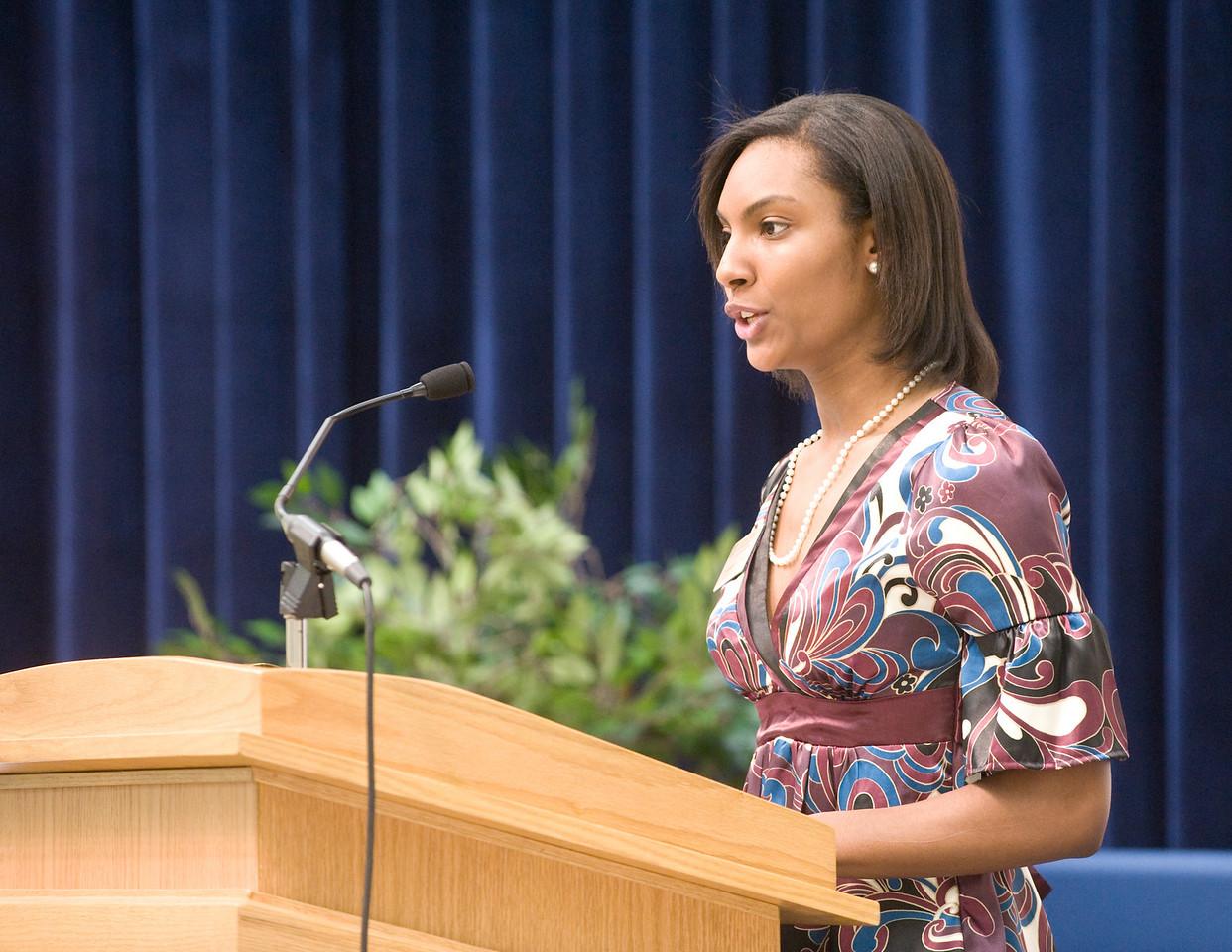 Stephanie Truly, president of the student alumni association