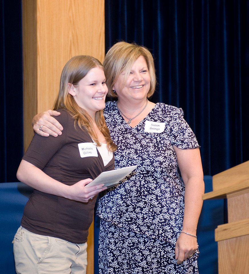 Star student Michaela Collins and Susan Goings, coordinator of academic opportunity program