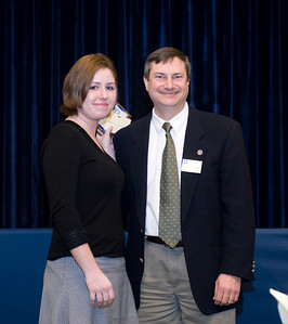 Lumina Student Carly Robbins and Mike Chambers, associate professor of political science