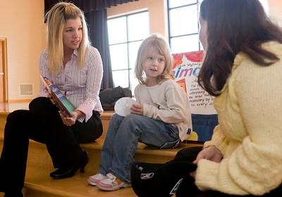 Whitni Hall, Jnr. Elementary Ed Ashley Jones, 5 Hannah McDonald, Jnr. Elementary Ed reading Animal ABC