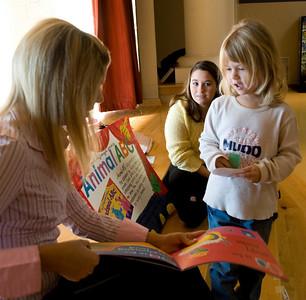 Whitni Hall, Jnr. Elementary Ed Hannah McDonald, Jnr. Elementary Ed Ashley Jones, 5 reading Animal ABC