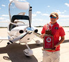 Air Race Classic team returns : Indiana State University pilots Jessica Campbell and Victoria Dunbar returned to campus victorious after capturing top collegiate honors in the annual Air Race Classic, a transcontinental air race for women. Photos by: Tony Campbell