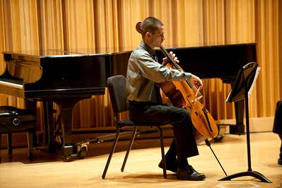 Student Recital, kurt baer saxophone, christian schrock cello