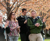Tree Campus USA flag raising ceremony : The university celebrated arbor day by planting a new tree on campus. The ceremony also celebrated the Arbor Day Foundation naming Indiana State one of two Tree Campus USA institutions in the state. Photo by Tony Campbell