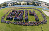 Class of 2014 photo : The class of 2014 gathered on Mark's Field for their class photo.