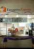 Executive Express opening : ISU business students put together the business plan for the new Executive Express coffee café, and continued daily operation will be managed by students. In addition to coffee, a variety of drinks and pre-packaged food will also be sold.  Photos by Tony Campbell
