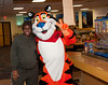 President Bradley and Tony the Tiger :