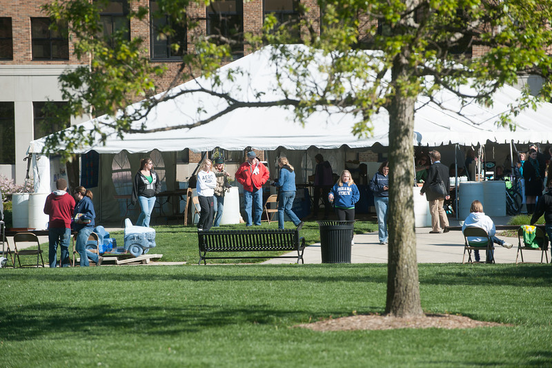 Earth Day celebration on the quad