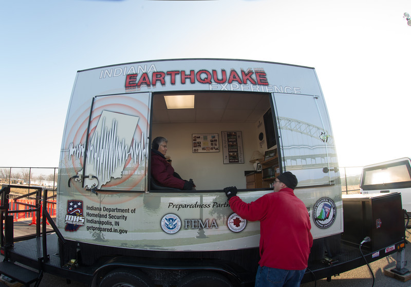 Students and OLLI members participate in the Indiana Earthquake Experience