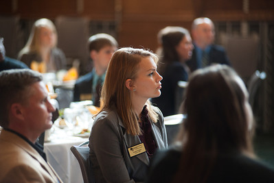 Networks hosts luncheon in courtroom of Scott College of Business to thank business leaders who participate in mentor program