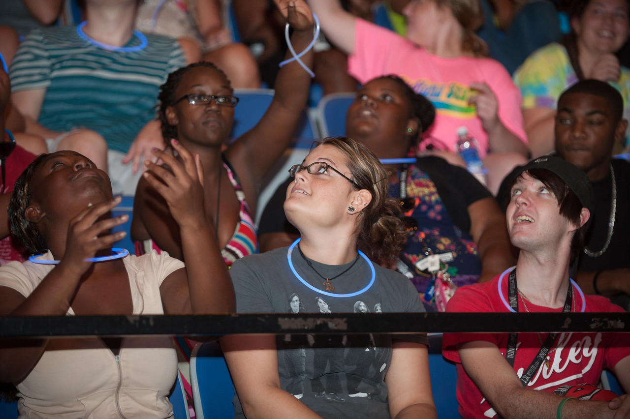 Students in the class of 2016 participate in the Convocation Ceremony at Hulman Center