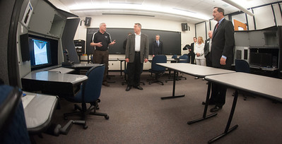 Senator Joe Donnelly (D-IN) met with President Dan Bradley and toured the College of Technology