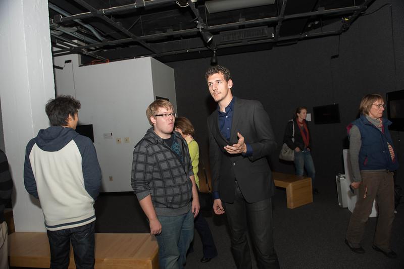 October 24, 2013 digital art exhibit opening 4833