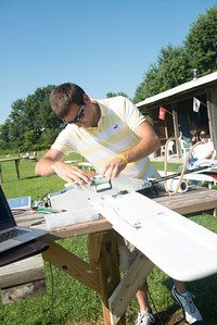 Students Test  of new plane for Center for Unmanned Systems and Human Capital Development.