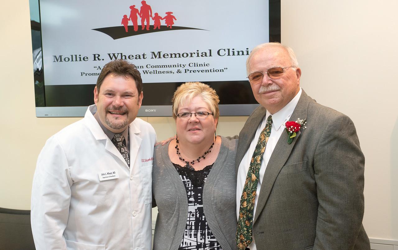 Mollie R. Wheat Memorial Clinic ribbon cutting
