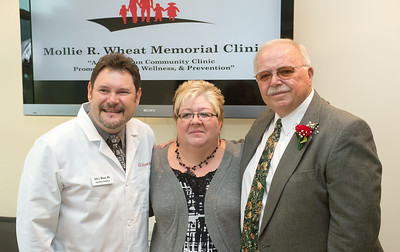 Mollie R. Wheat Memorial Clinic ribbon cutting