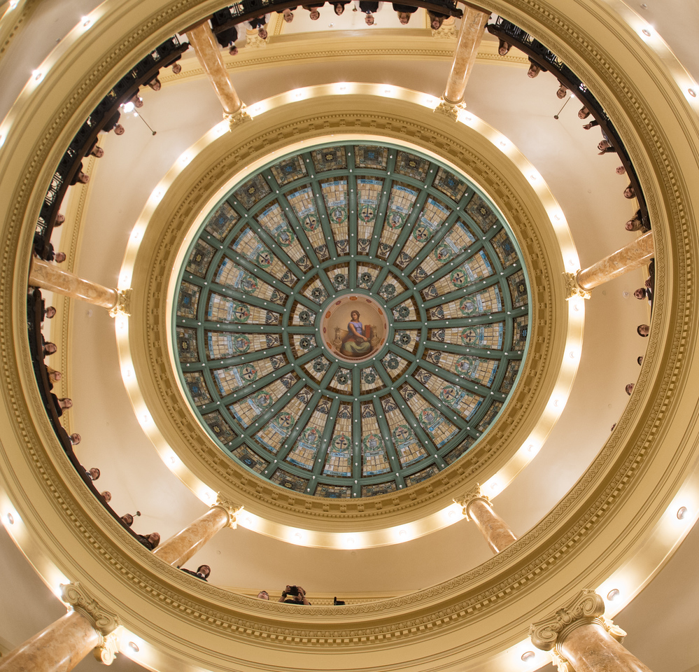 Normal Hall dome unveiling