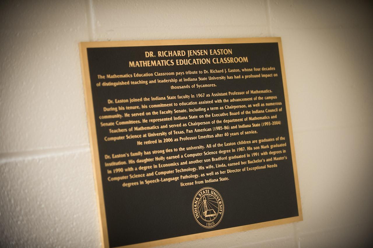 Easton room dedication