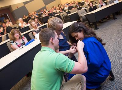 Nursing pinning ceremony