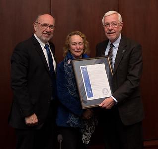 Bradleys honored by BOT