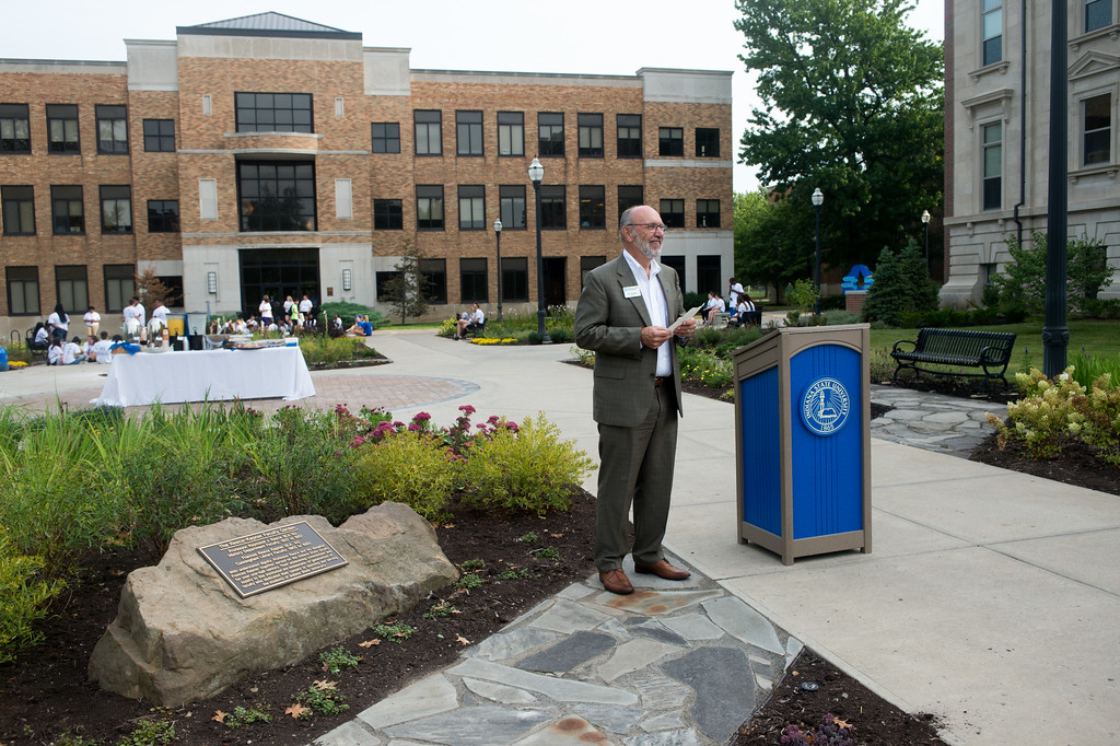 Indiana State dedicates faculty garden