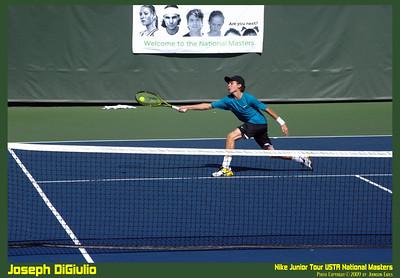 NJT09 Joseph DiGiulio 08  Joseph DiGiulio in the Nike Junior Tour 2009 USTA National Masters.