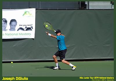NJT09 Joseph DiGiulio 07  Joseph DiGiulio in the Nike Junior Tour 2009 USTA National Masters.