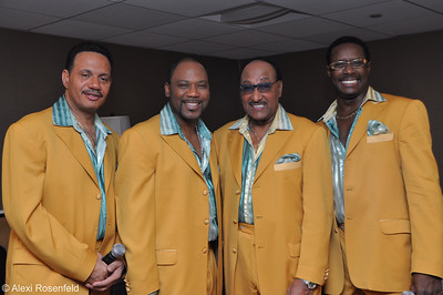 The Four Tops Backstage at a concert in Los Angeles 2009
