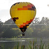 Hot air balloon above lake, Balloons over Waikato, 2010.