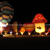 Hot air balloons, Balloons over Waikato, 2010, night glow.