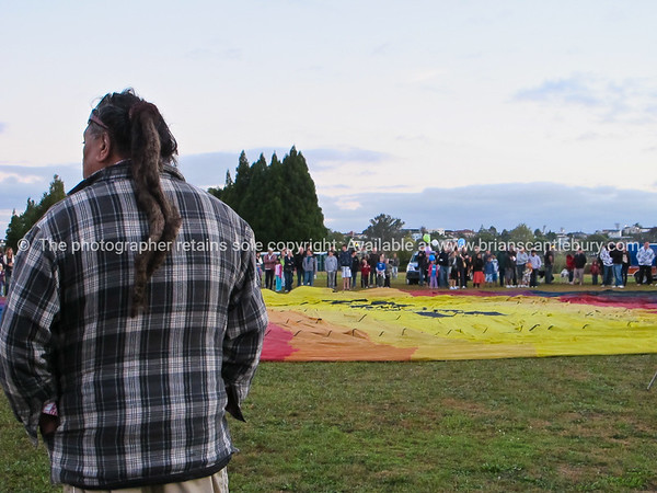 Inflation time, and the crowd, Balloons over Waikato, 2010.<br /> Model released; no. Editorial and personal use only