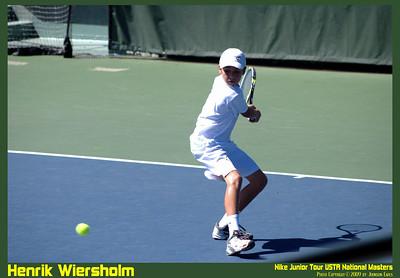NJT09 Henrik Wiersholm 03  Henrik Wiersholm in the Nike Junior Tour 09 USTA National Masters.
