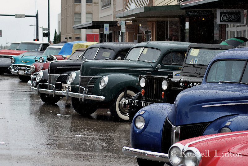 Time Warp<br /> Auto show at the Denton Town Square.