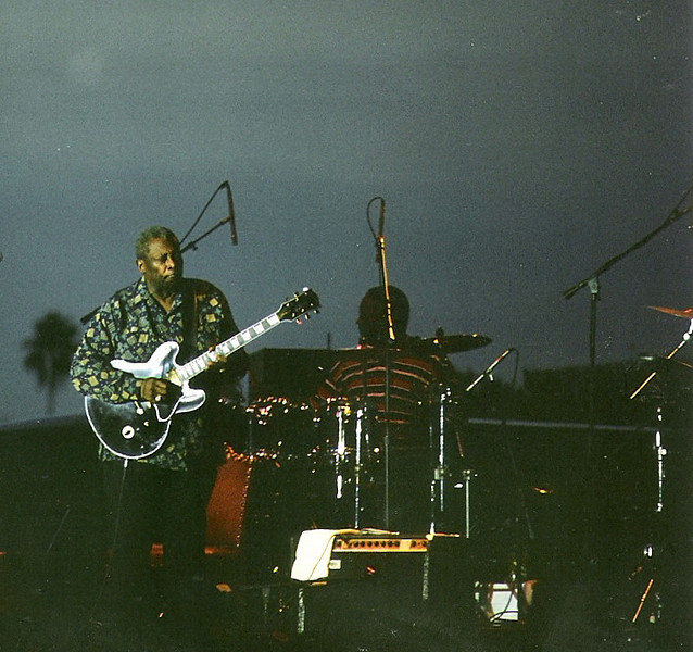 B.B. King in 1995 playing at Vinoy Park in St. Petersburg, FL.  It was his birthday.
