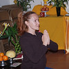 Oksana is praying