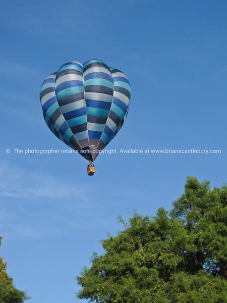 Hot air balloon above Waikato, New Zealand.