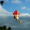Balloons, hot air flying above Hamilton. Balloons over Waikato, New Zealand, 2010.